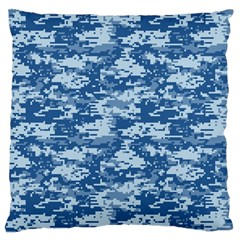CAMO DIGITAL NAVY Large Flano Cushion Cases (One Side)