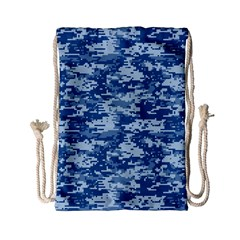 CAMO DIGITAL NAVY Drawstring Bag (Small)