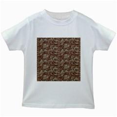 CAMO DESERT Kids White T-Shirts