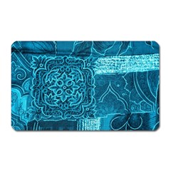 BLUE PATCHWORK Magnet (Rectangular)