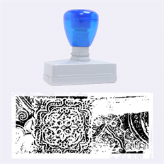 BLUE PATCHWORK Rubber Stamps (Large)
