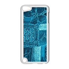 BLUE PATCHWORK Apple iPod Touch 5 Case (White)