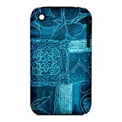 BLUE PATCHWORK Apple iPhone 3G/3GS Hardshell Case (PC+Silicone)
