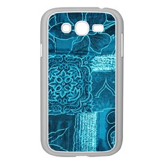 BLUE PATCHWORK Samsung Galaxy Grand DUOS I9082 Case (White)
