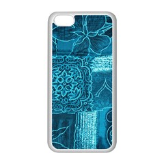 BLUE PATCHWORK Apple iPhone 5C Seamless Case (White)
