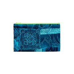 BLUE PATCHWORK Cosmetic Bag (XS)