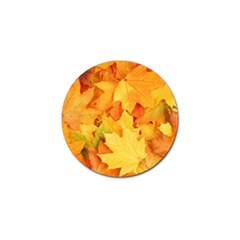 YELLOW MAPLE LEAVES Golf Ball Marker (10 pack)