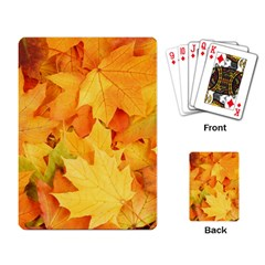 YELLOW MAPLE LEAVES Playing Card