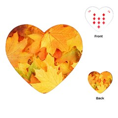 YELLOW MAPLE LEAVES Playing Cards (Heart)