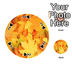 Yellow Maple Leaves Playing Cards 54 (round)