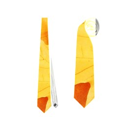 YELLOW MAPLE LEAVES Neckties (One Side)