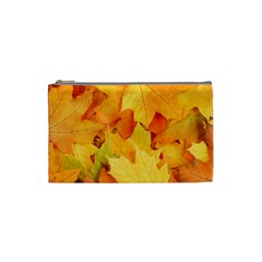 YELLOW MAPLE LEAVES Cosmetic Bag (Small)