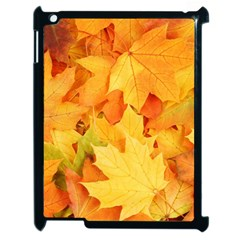 YELLOW MAPLE LEAVES Apple iPad 2 Case (Black)