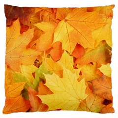 YELLOW MAPLE LEAVES Large Cushion Cases (One Side)