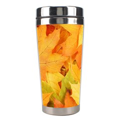 YELLOW MAPLE LEAVES Stainless Steel Travel Tumblers