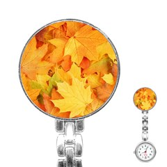 YELLOW MAPLE LEAVES Stainless Steel Nurses Watches