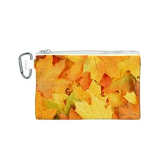YELLOW MAPLE LEAVES Canvas Cosmetic Bag (S)