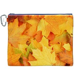 YELLOW MAPLE LEAVES Canvas Cosmetic Bag (XXXL)