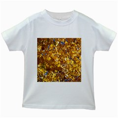 YELLOW LEAVES Kids White T-Shirts