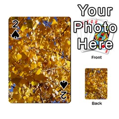Yellow Leaves Playing Cards 54 Designs
