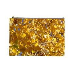 YELLOW LEAVES Cosmetic Bag (Large)