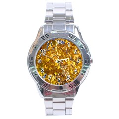 YELLOW LEAVES Stainless Steel Men s Watch
