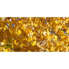 Yellow Leaves You Are Invited 3d Greeting Card (8x4)