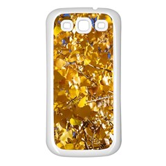 YELLOW LEAVES Samsung Galaxy S3 Back Case (White)