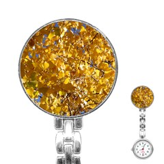 YELLOW LEAVES Stainless Steel Nurses Watches