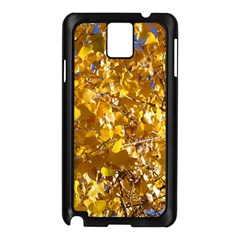 YELLOW LEAVES Samsung Galaxy Note 3 N9005 Case (Black)