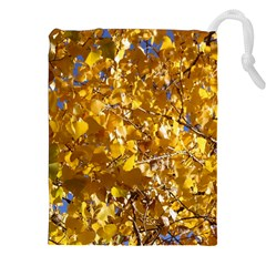 YELLOW LEAVES Drawstring Pouches (XXL)