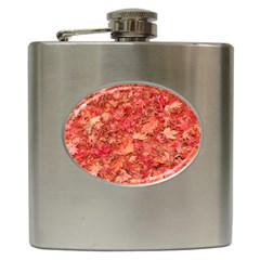 RED MAPLE LEAVES Hip Flask (6 oz)