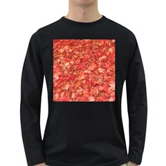 RED MAPLE LEAVES Long Sleeve Dark T-Shirts