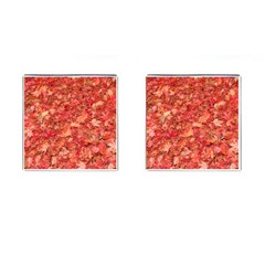RED MAPLE LEAVES Cufflinks (Square)