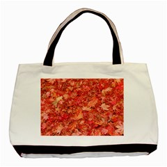 RED MAPLE LEAVES Basic Tote Bag (Two Sides)