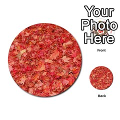Red Maple Leaves Multi Purpose Cards (round)