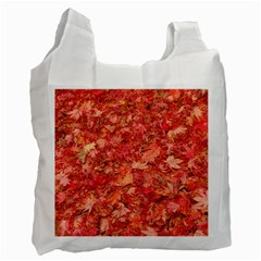 RED MAPLE LEAVES Recycle Bag (One Side)