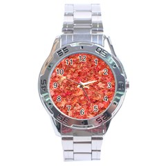 RED MAPLE LEAVES Stainless Steel Men s Watch
