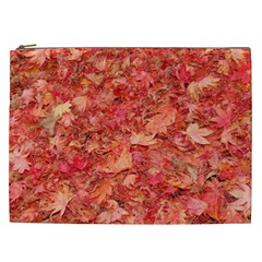 RED MAPLE LEAVES Cosmetic Bag (XXL)