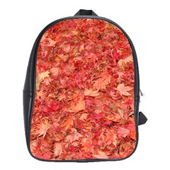 RED MAPLE LEAVES School Bags (XL)