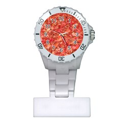 RED MAPLE LEAVES Nurses Watches