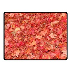 RED MAPLE LEAVES Double Sided Fleece Blanket (Small)