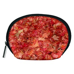 RED MAPLE LEAVES Accessory Pouches (Medium)