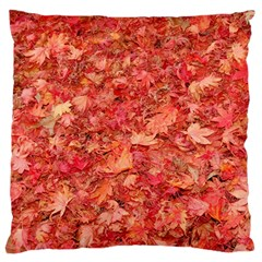 RED MAPLE LEAVES Standard Flano Cushion Cases (One Side)