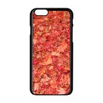 RED MAPLE LEAVES Apple iPhone 6/6S Black Enamel Case Front