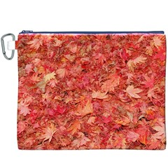 RED MAPLE LEAVES Canvas Cosmetic Bag (XXXL)
