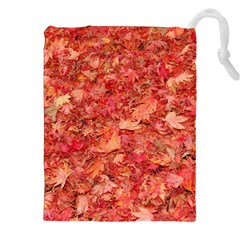RED MAPLE LEAVES Drawstring Pouches (XXL)