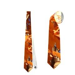 ORANGE LEAVES Neckties (One Side)