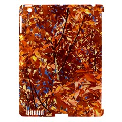 ORANGE LEAVES Apple iPad 3/4 Hardshell Case (Compatible with Smart Cover)