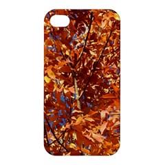 ORANGE LEAVES Apple iPhone 4/4S Premium Hardshell Case